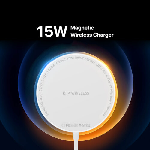 KiiP M3 Wireless Charger Pad Magnetic Iphone 12 Fast Charging 15W